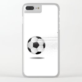Moving Football Clear iPhone Case