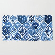 Arabesque tile art Beach Towel