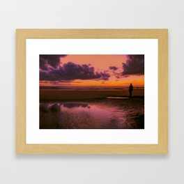 Another place at sunset Framed Art Print