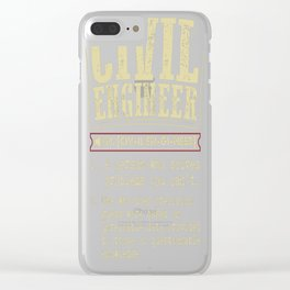 Civil Engineer Funny Dictionary Term Clear iPhone Case