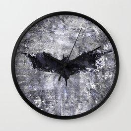 bat man symbol Wall Clock