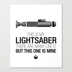 This is my Lightsaber (Luke Version) Canvas Print