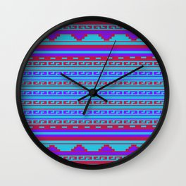 Mexican Aztec ethnic pattern Wall Clock