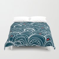 sailing Duvet Covers featuring sailing by Pardabon