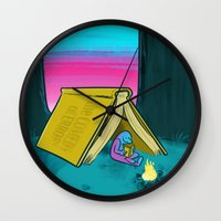 reading Wall Clocks featuring Reading by David Kantrowitz