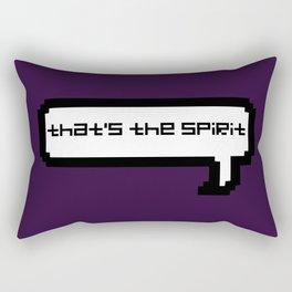 That's The Spirit - Purple Rectangular Pillow