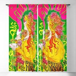 PF vintage poster Blackout Curtain