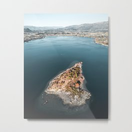 Lake Wanaka from Above Metal Print