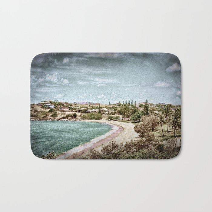 Living by the ocean Bath Mat