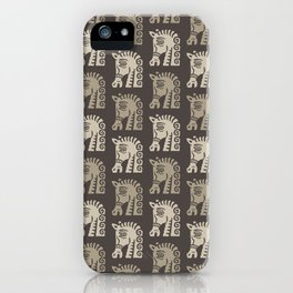 Mid Century Horse Pattern Neutral iPhone Case