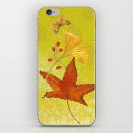Fall Citron Leaves iPhone Skin