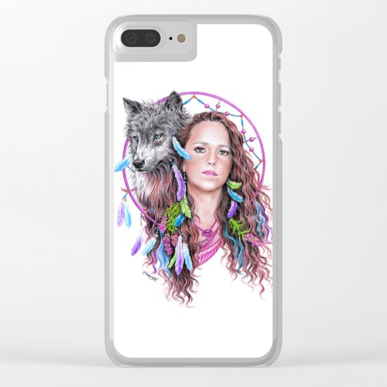 Heather Clear iPhone Case