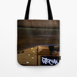 Reflection in a puddle Tote Bag