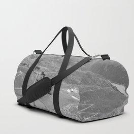 chairlift repair kaunertal alps tyrol austria europe black white Duffle Bag