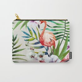 Fancy Tropical Flamingos Carry-All Pouch