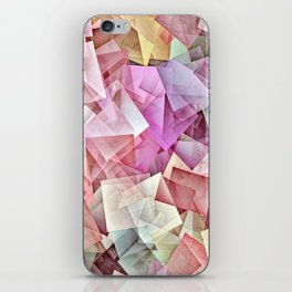 Geometric Stacks Pastel iPhone Skin