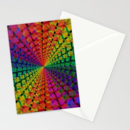 Colorful mosaic pattern design artwork- colorful christmas gifts- pixel art Stationery Cards