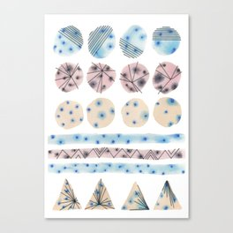 Geometrical Embroidery Canvas Print
