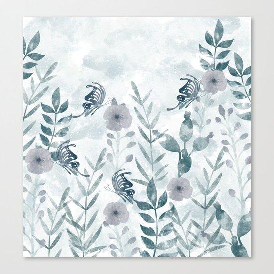 Watercolor floral garden II Canvas Print