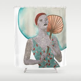 Swim in style Shower Curtain
