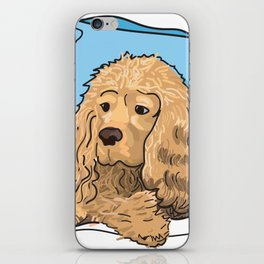 Cute Tan Cocker Spaniel Illustration iPhone Skin