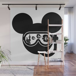 Mouse head under the sea t-shirt Wall Mural