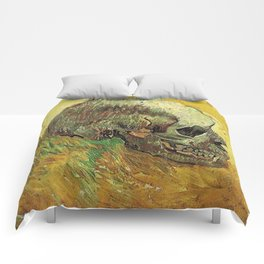 Vincent Van Gogh Skull Painting Comforters