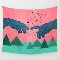superheroes Wall Tapestries featuring cool by mark ashkenazi