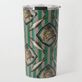 4 SARDINES AND A CAT Travel Mug