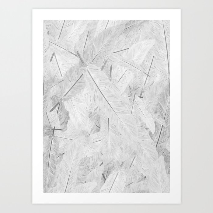 Feathered (Pattern). Art Print