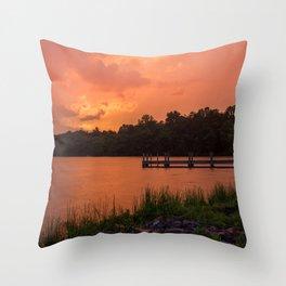 Sunset Sprinkles Throw Pillow