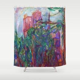 Karl Parsimagi Notre Dame Shower Curtain