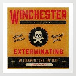 Supernatural Matchbook Advertisement Art Print