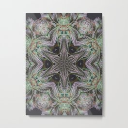 Crystal Leaf Star Metal Print