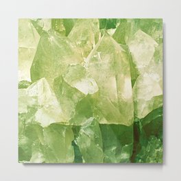 Green Gems Metal Print