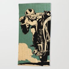 Motorcycle Race Beach Towel