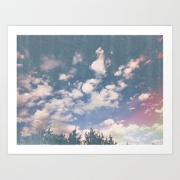 color sky Art Print