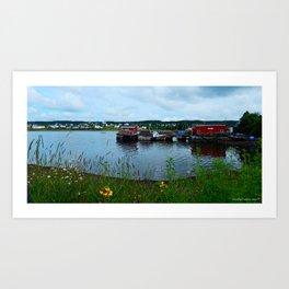 Fisherman's Wharf in Cape Breton Art Print
