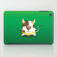 cow iPad Cases featuring Cow by jebirvoki