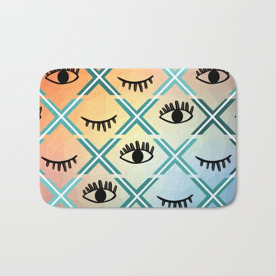 Original Colorful Eyes Design Bath Mat