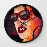 miami Wall Clocks featuring MIAMI  by Stephan Parylak
