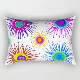 White Fireworks Rectangular Pillow