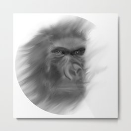 Leader chimpanzee in the Forest Metal Print