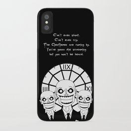 Hush - The Gentlemen (Black) iPhone Case