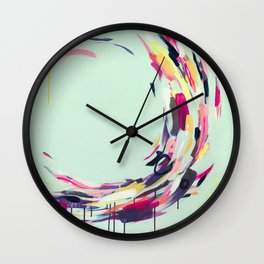 Life Aquatic - Abstract painting by Jen Sievers Wall Clock