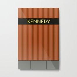 KENNEDY | Subway Station Metal Print