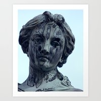 Weeping Angel Statue Art Print