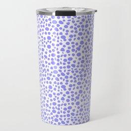 Small Random Dots Salmon BLUE Travel Mug