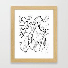 Smooth sketch effect Framed Art Print