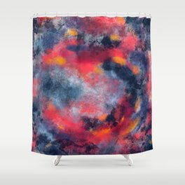 Abstract Texture Digital Painting Shower Curtain